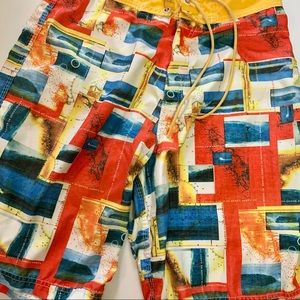 Aaron Chang Bright Color Board Shorts Swim Trunks